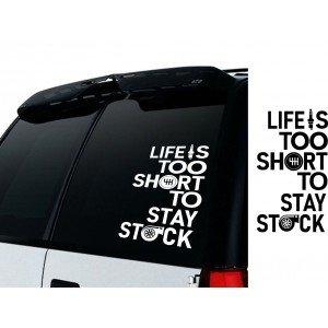 Life is too short /Das Leben ist zu kurz