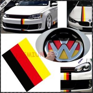 Rennband mit den Farben der deutschen Flagge