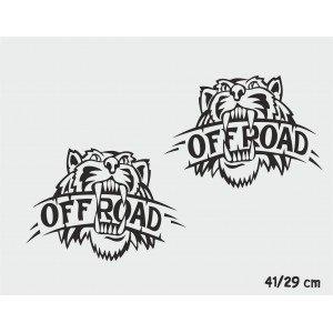 2 x Aufkleber , Tiger Offroad