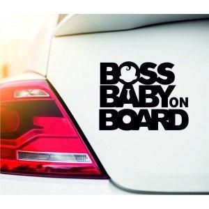 """Boss baby"" Autoaufkleber"