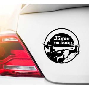 Jäger im Auto