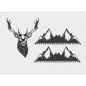 Hirsche und Berge