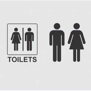 Aufkleber Set, WC