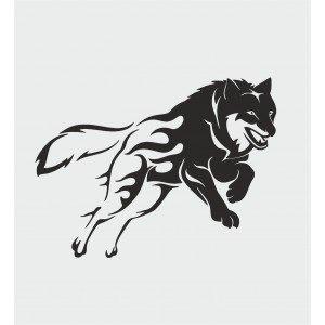 Frontabdeckungsaufkleber Wolf