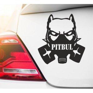 Pitbull mit Gasmaske