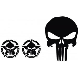 Aufkleber Set, Punisher