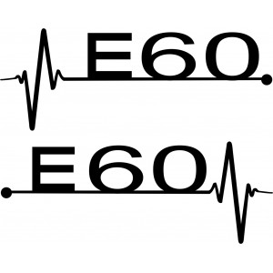 Aufkleber BMW E60 Kardiogramm