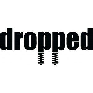 """Dropped"" Autoaufkleber"