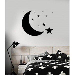 Mond und Sterne , Wandaufkleber