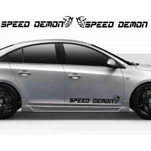 2 x Aufkleber, Speed Demon