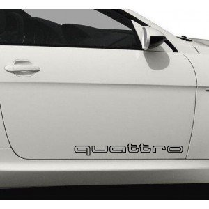 """2 x Aufkleber""""quattro"""" ,für alle Audi Modelle"""