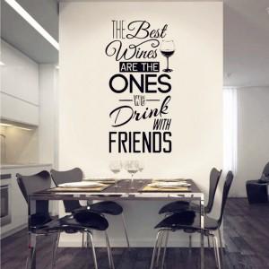 Wein und Freunde, Wandaufkleber