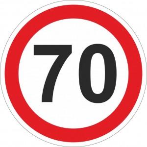 70 km einschränkend