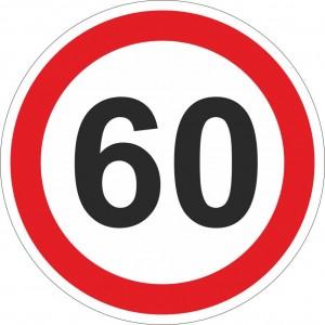 60 km einschränkend