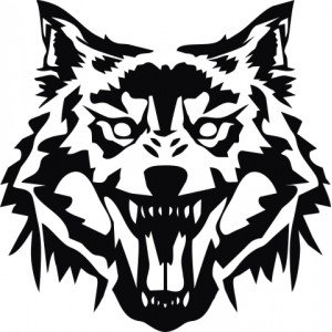 Aufkleber für Autokappe - Wolf