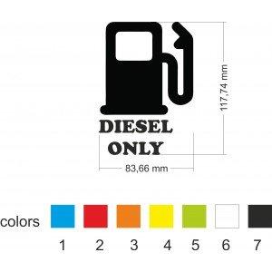Diesel-Autokappenaufkleber